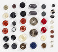 Collection of various sewing button Royalty Free Stock Photo