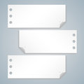 Collection of various white note papers ready for your message vector illustration Royalty Free Stock Photography