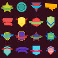 Collection of Vector Abstract Label, Sticker, Tags Royalty Free Stock Photo