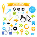 Collection of Vector Arrows Royalty Free Stock Images