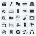 Collection of vector arts icons. Royalty Free Stock Photo