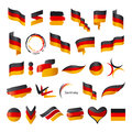 Collection of vector flag of Germany Royalty Free Stock Photo
