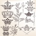 Collection of vector heraldic crowns set for your design Stock Images
