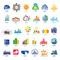 Collection of vector logos cities biggest Royalty Free Stock Photography