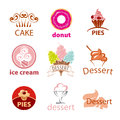 Collection of vector logos desserts