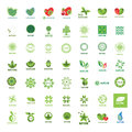 Collection of vector logos eco and nature biggest Royalty Free Stock Photos
