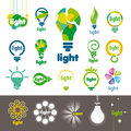 Collection of vector logos lamps biggest Royalty Free Stock Photos