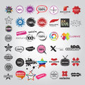 Collection vector logos signs pointers Stock Photos