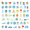 Collection of vector logos Travel Royalty Free Stock Photo