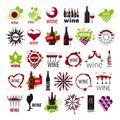 Collection of vector logos wine Royalty Free Stock Photo