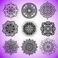 Collection of vector mandalas for coloring pages.