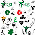 Collection of Vector Medical Symbols Royalty Free Stock Images