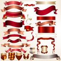 Collection of vector ribbons for design colored set your festive Royalty Free Stock Photography