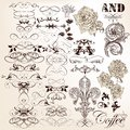Collection of vector vintage calligraphic elements and page deco set for design Royalty Free Stock Photo