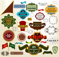Collection of  vector vintage labels Stock Images
