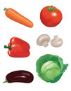 Collection of vegetables 1 Stock Photos