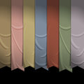 Collection of vertical ribbons for design Stock Photo