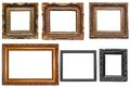 Collection of very old painting frames Royalty Free Stock Photography