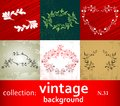 Collection vintage background Royalty Free Stock Photos