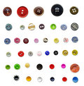 Collection of vintage buttons Stock Photography