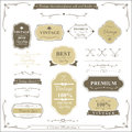Collection of vintage frame border rule and design element Royalty Free Stock Photo