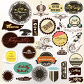 Collection of vintage grunge labels for your retro design vector set cafe and coffee house Royalty Free Stock Photos