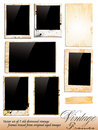 Collection of Vintage Photo Frames Royalty Free Stock Photo