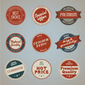 Collection of vintage premium quality labels Stock Image
