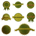 Collection of vintage retro grunge eco and bio labels badges with clipping path Royalty Free Stock Image