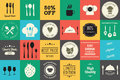 Collection of vintage retro grunge wine beer restaurant cafe Royalty Free Stock Photos