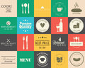 Collection of vintage retro grunge wine beer restaurant cafe Stock Photo
