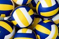 Collection of volleyballs sports object