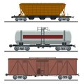 Collection of waggons vector image diffirent Stock Image