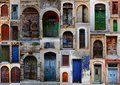 Collection of weathered doors Royalty Free Stock Photo