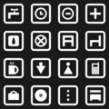 Collection of web icons Royalty Free Stock Photography