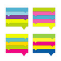 Collection of website element colorful speech bubbles Royalty Free Stock Photography