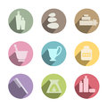 Collection of wellness icon flat Royalty Free Stock Images