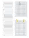 Collection of white papers vector illustration ready for your message Royalty Free Stock Images
