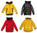 Collection of winter jackets Royalty Free Stock Photography