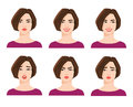 Collection of woman`s emotions.