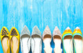 Collection of women`s shoes Royalty Free Stock Photo