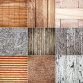 Collection of wood textures Royalty Free Stock Photo