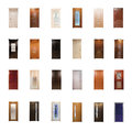 Collection of wooden doors Royalty Free Stock Image