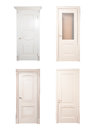 Collection of wooden doors isolated Stock Photography