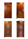 Collection of wooden doors isolated Royalty Free Stock Images