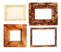 Collection of wooden frames Royalty Free Stock Photography