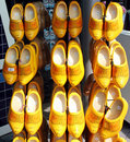 Collection of wooden shoes Stock Photo