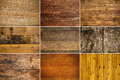 Collection of wooden texture Stock Image