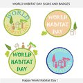 World Habitat Day Signs and Badges