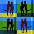 Collection of young attractive women silhouettes